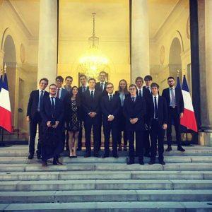 Rencontre au Palais de l'Élysée avec le Conseiller diplomatique adjoint d'Emmanuel Macron, Aurélien Lechevallier - Septembre 2017