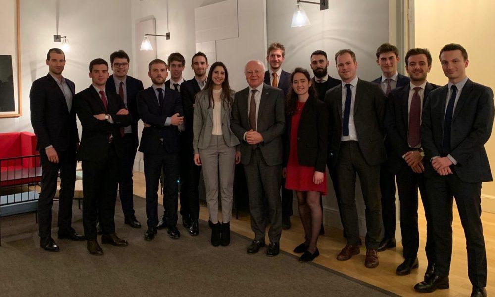 Dîner au Conseil d'État avec le Vice-président Bruno Lasserre - Février 2020